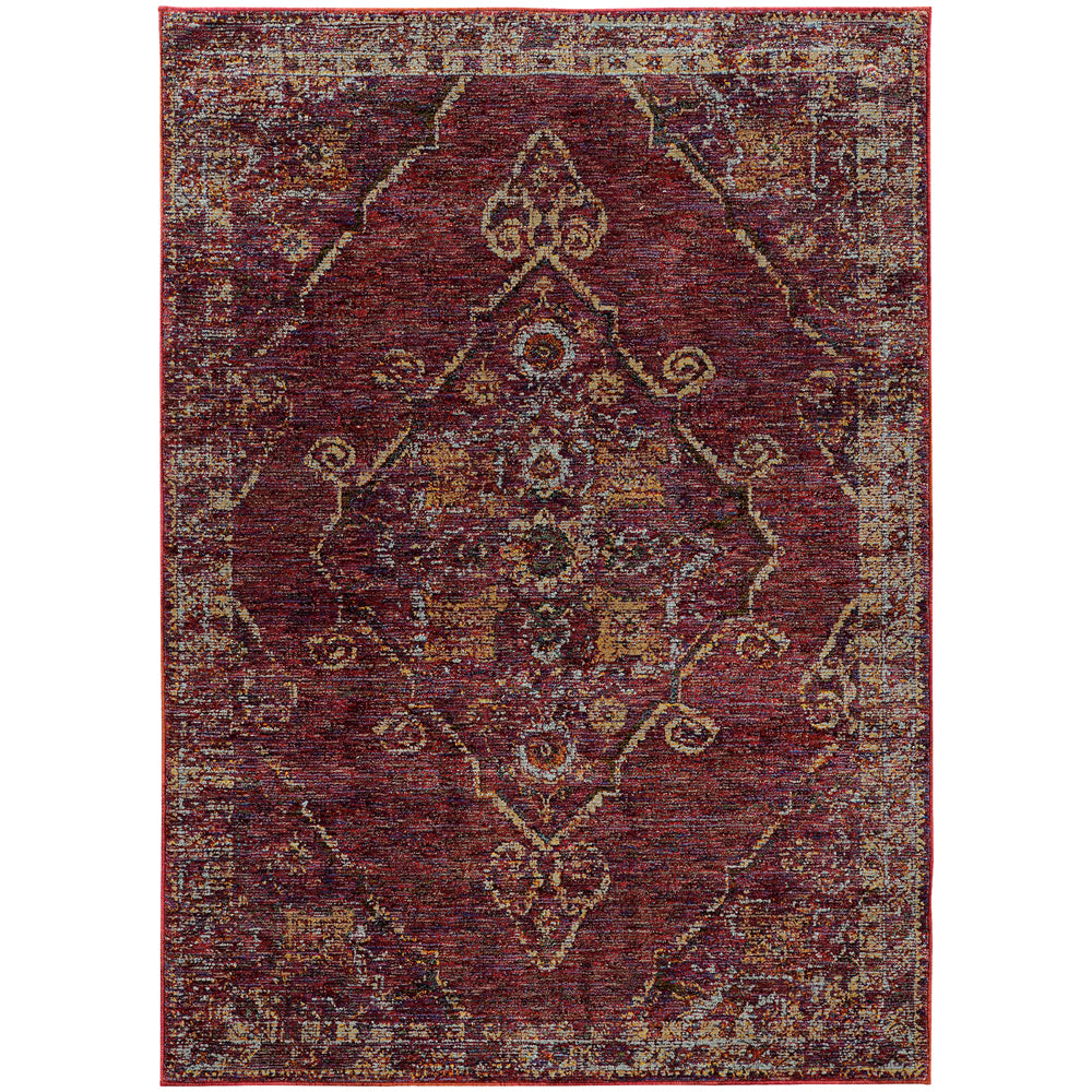 Andorra Rug in Burgundy