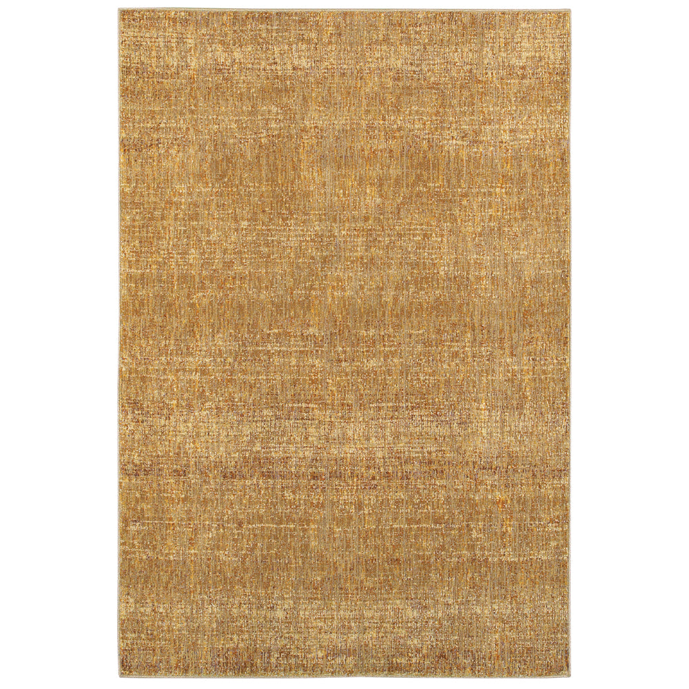 Atlas Heathered Rug in Yellow