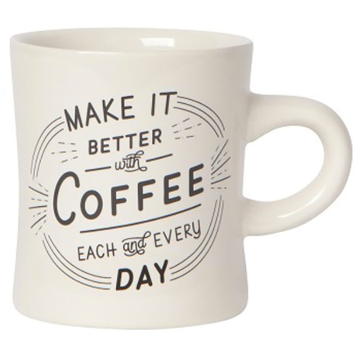 Better With Coffee Diner Mug - Greenhouse Home