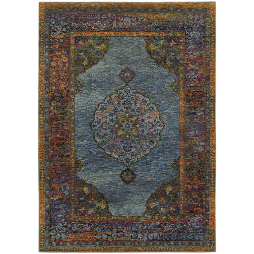 Andorra Medallion Rug in Blue
