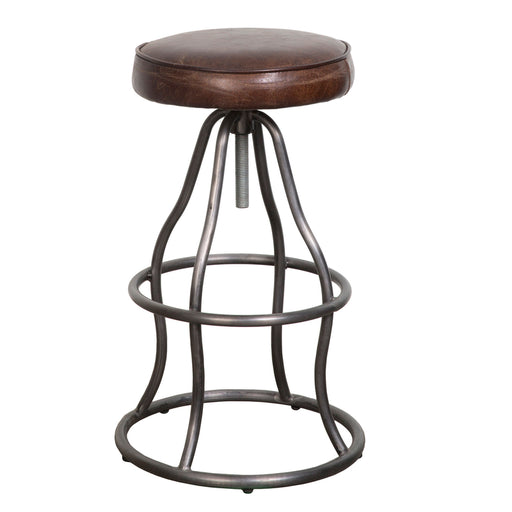 Bowie Adjustable Stool - Brown Vintage - Greenhouse Home