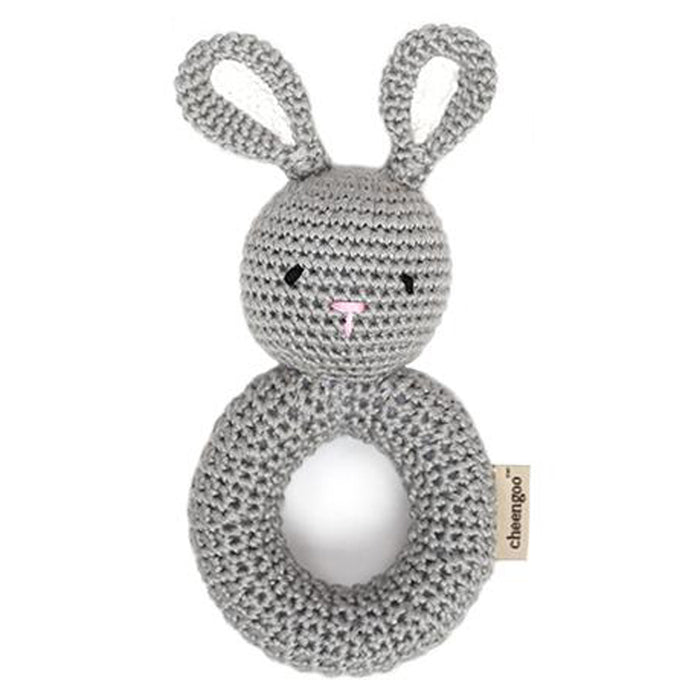 Bunny Ring Crocheted Rattle - Greenhouse Home