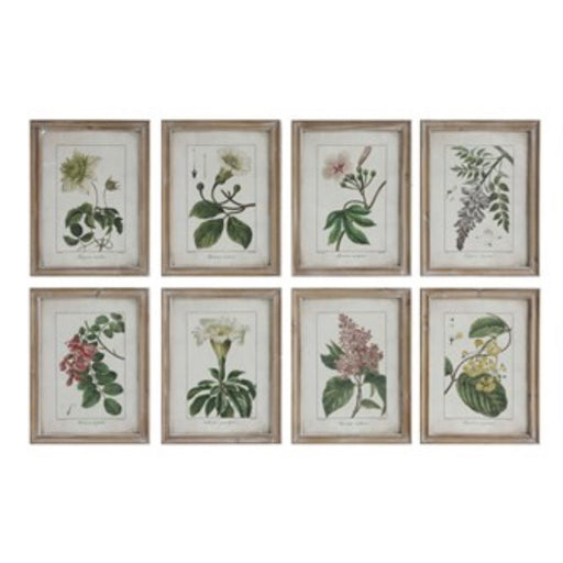 Floral Wood Framed Wall Decor