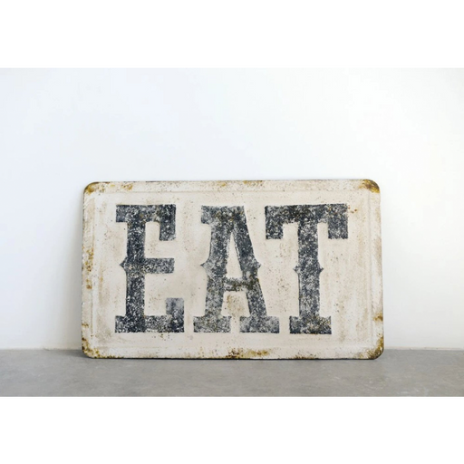 "Distressed Metal Wall Decor - ""Eat"""