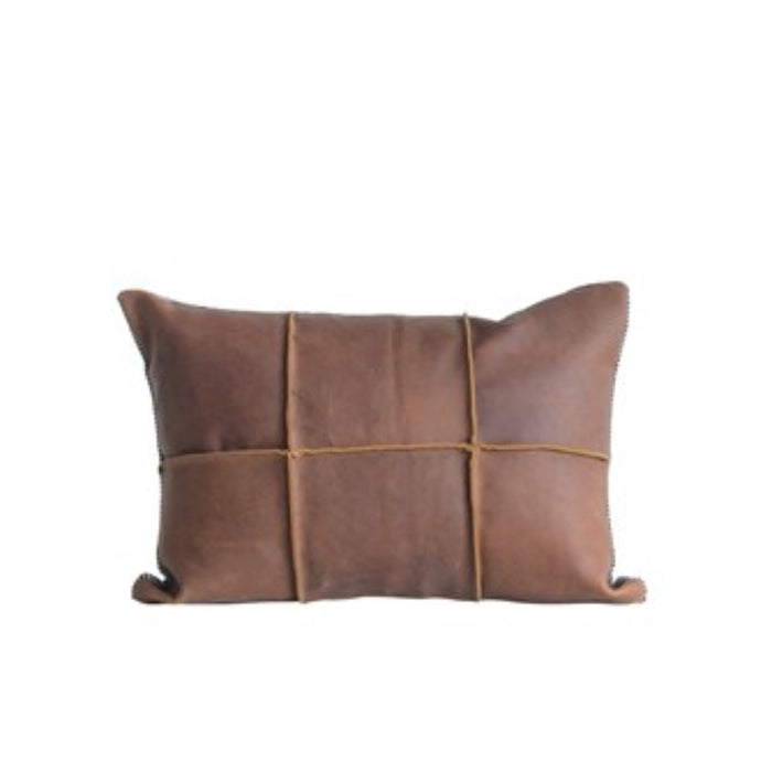 Leather & Felt Pillow - Greenhouse Home
