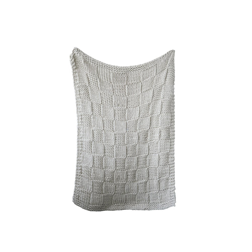 Chunky Knit Acrylic Throw - Greenhouse Home