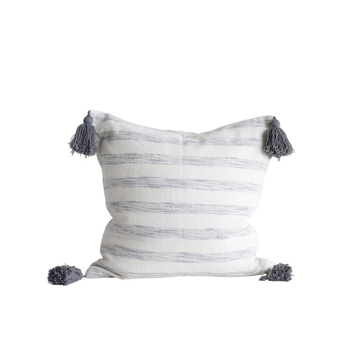 Square Cotton Striped Pillow - Greenhouse Home