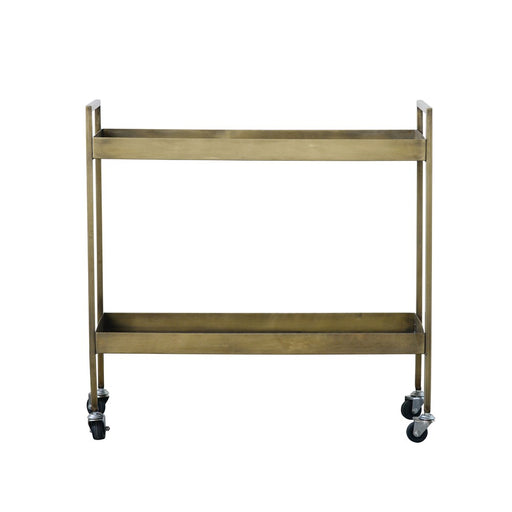 Metal 2-Tier Bar Cart on Casters - Greenhouse Home