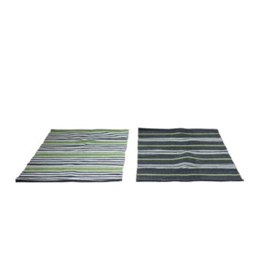 Cotton Striped Dhurrie Rug - Greenhouse Home