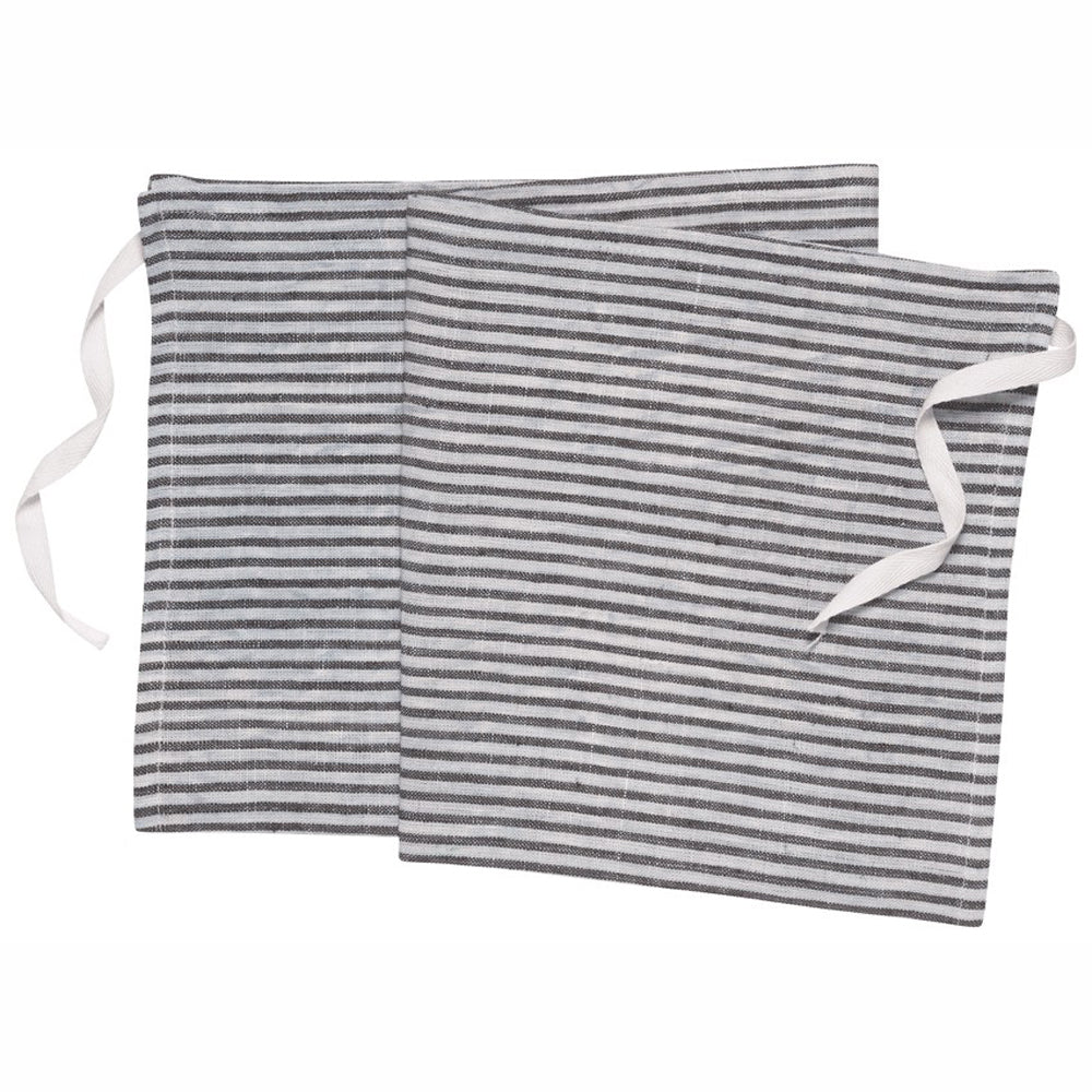 Denman Apron-Dish Towel in Stripe - Greenhouse Home