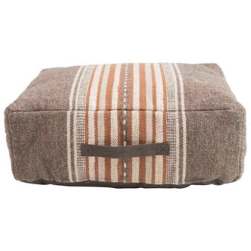 Cotton Striped Pouf