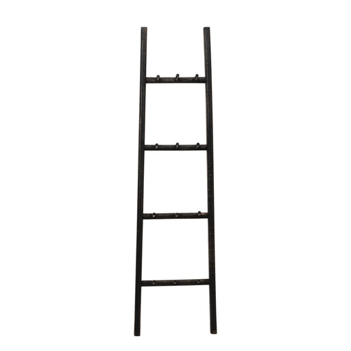 Decorative Wood Ladder with Pegs - Greenhouse Home