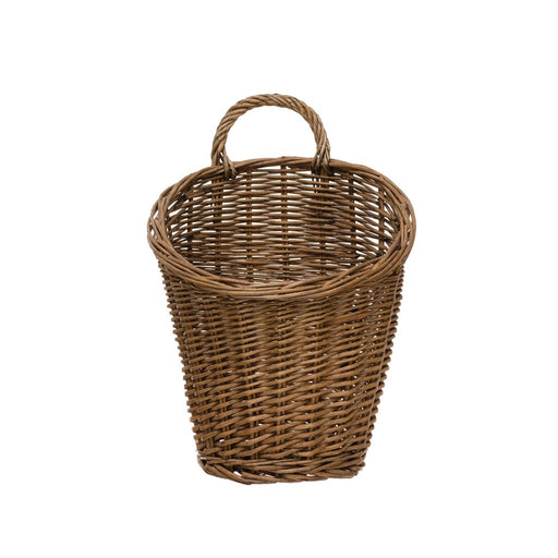 Rattan Wall Basket with Handle - Greenhouse Home