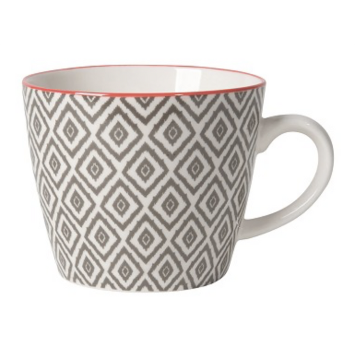 Diamonds Stamped Mug - Greenhouse Home