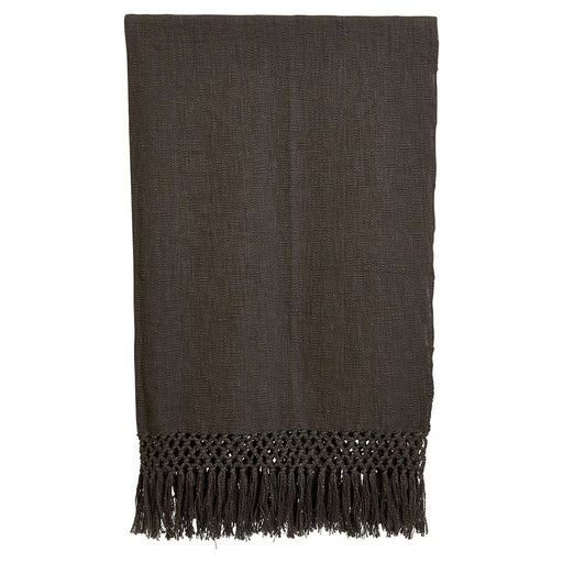 Fringe + Crochet Cotton Throw - Greenhouse Home