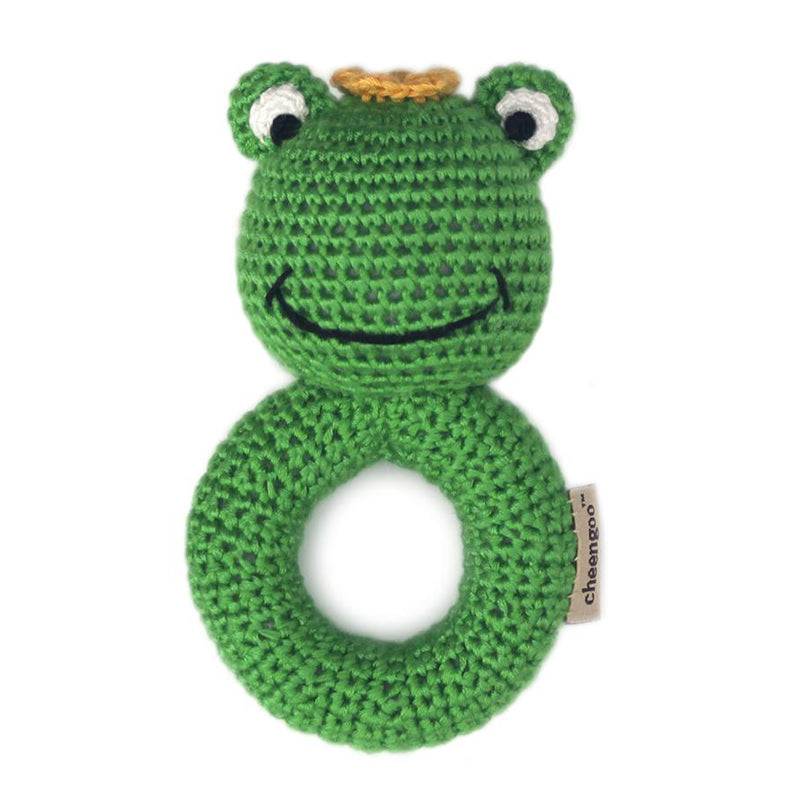 Frog Prince Ring Crocheted Rattle