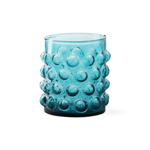 Aqua Hobnail Glass Tumbler - Greenhouse Home