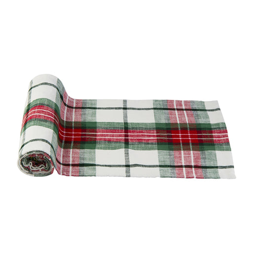 Festive Plaid Table Runner - Greenhouse Home