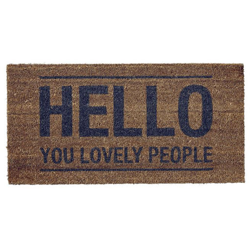 Hello You Lovely People Door Mat