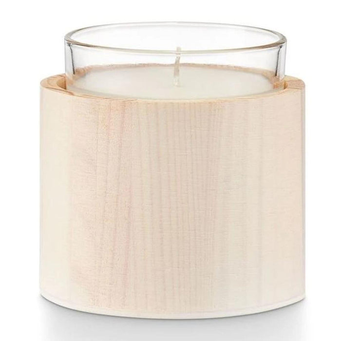 Flowering Linden Wood Glass Candle - Greenhouse Home