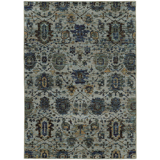 Andorra Many Medallion Rug in Blue