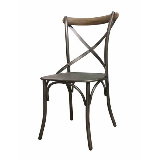 Metal Crossback Chair