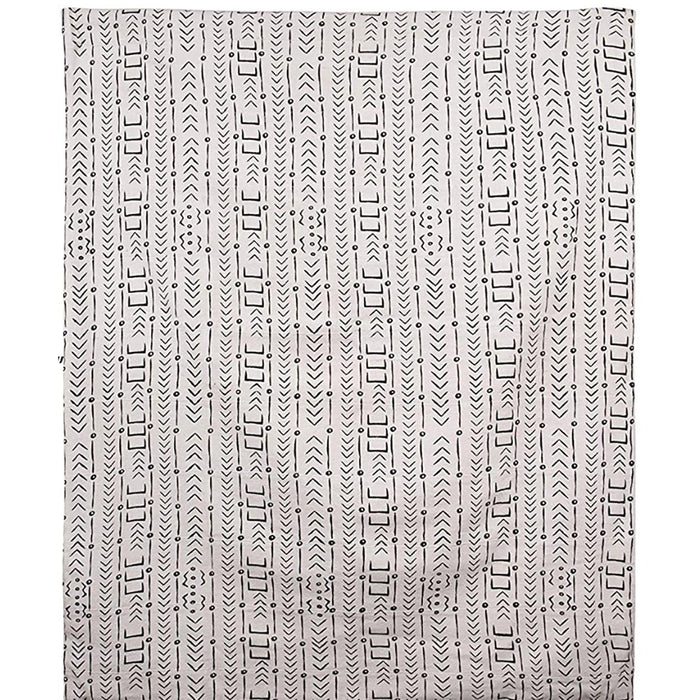 Cotton Mudcloth Pattern Throw - Greenhouse Home