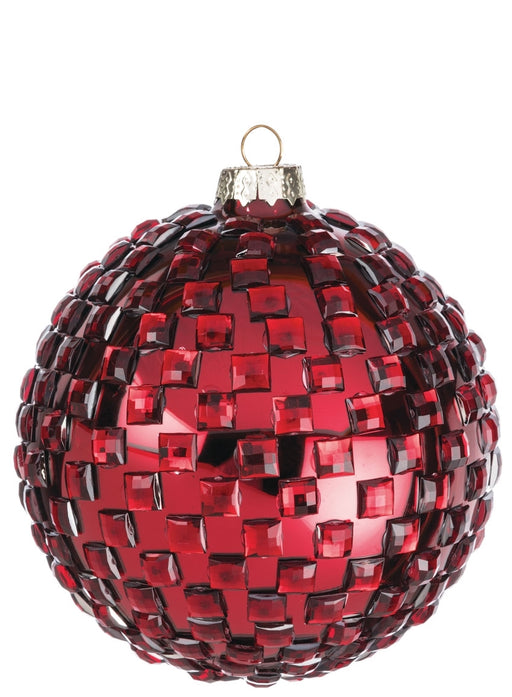 Textured Ball Ornament - Greenhouse Home