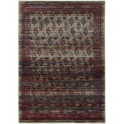 Andorra Paisley Panel Rug in Multi