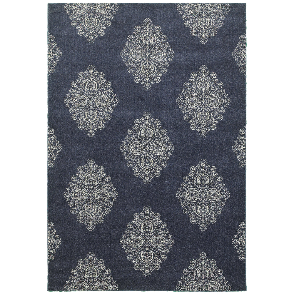 Pasha Rug in Navy - Greenhouse Home