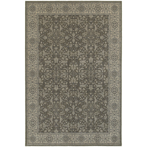 Richmond Rug in Gray and White - Greenhouse Home