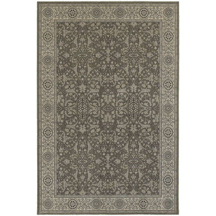 Richmond Rug in Gray and White