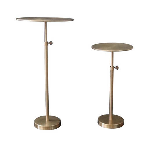 Earth Wind & Fire Round Pedestal Tables - Greenhouse Home