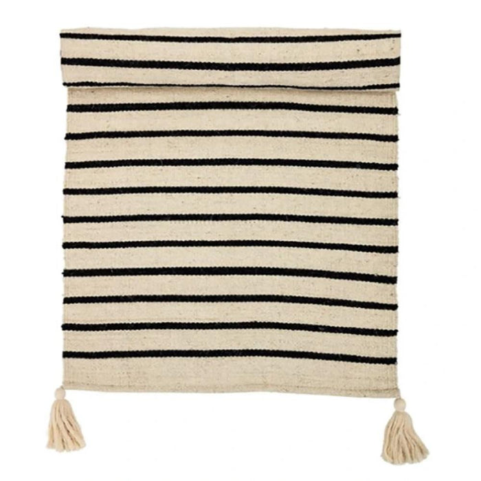 Black Striped Rug