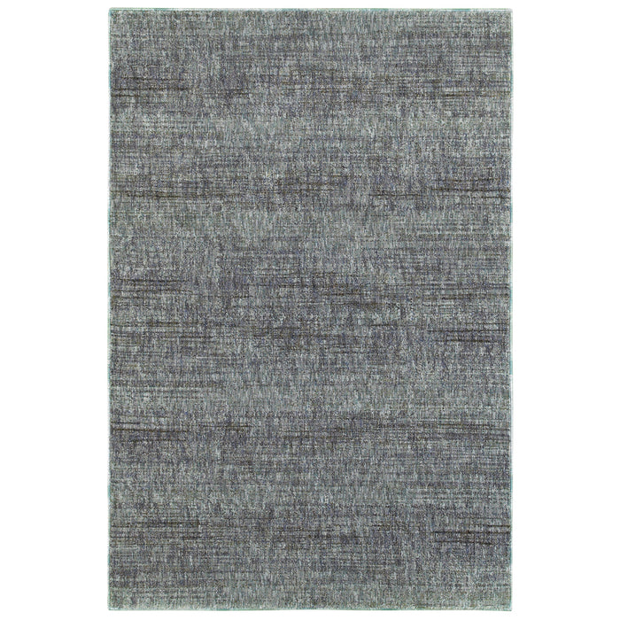Atlas Heathered Rug in Blue - Greenhouse Home