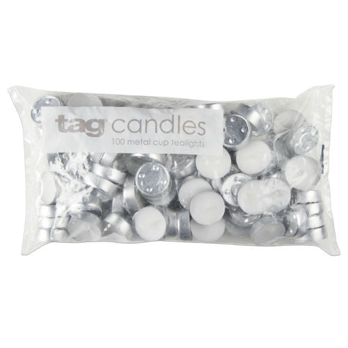 Basic Tealight Candles - Pack of 100 - Greenhouse Home