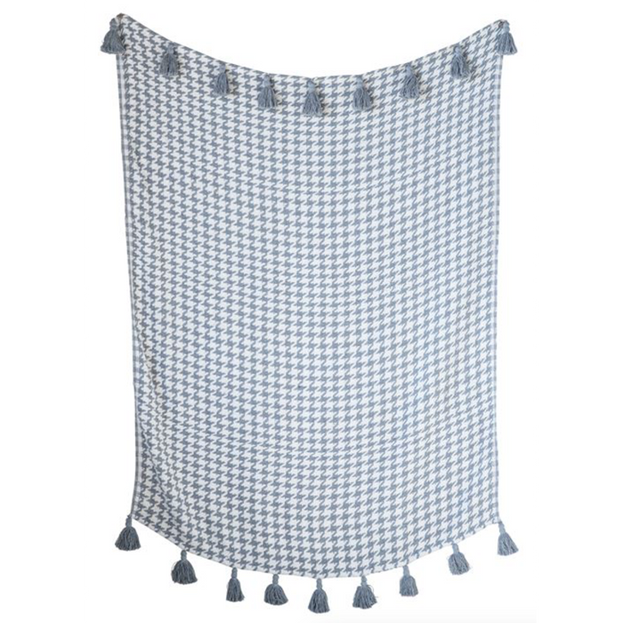 Cotton Houndstooth Throw - Greenhouse Home