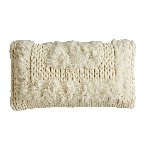 Wool Cable Knit Pillow - Greenhouse Home