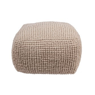 New Zealand Wool + Cotton Pouf - Greenhouse Home