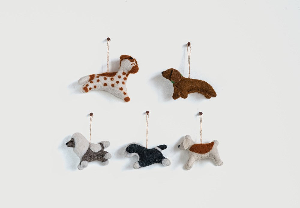 Wool Felt Dog Ornament - Greenhouse Home