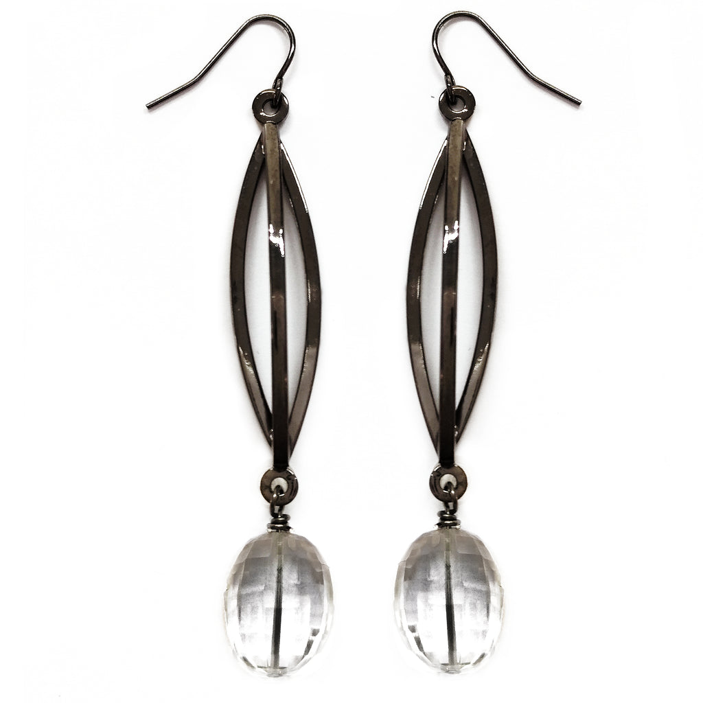 Crystal Triple Bar Earring by Barbara Cieslicki