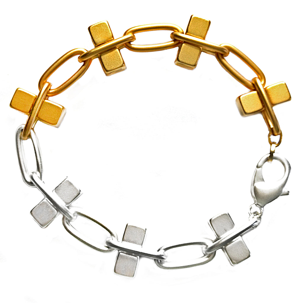 Gold and Silver Bullion Bracelet by Barbara Cieslicki