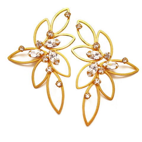 Gold Butterfly Earring by Barbara Cieslicki