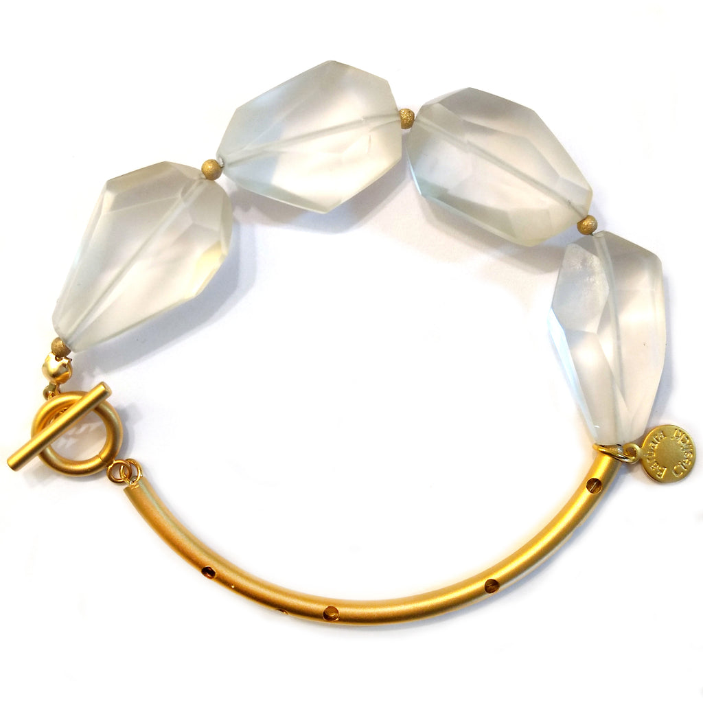 Faceted Quartz Bracelet by Barbara Cieslicki