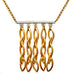 Sterling Silver and Gold Fringe Pendant by Barbara Cieslicki