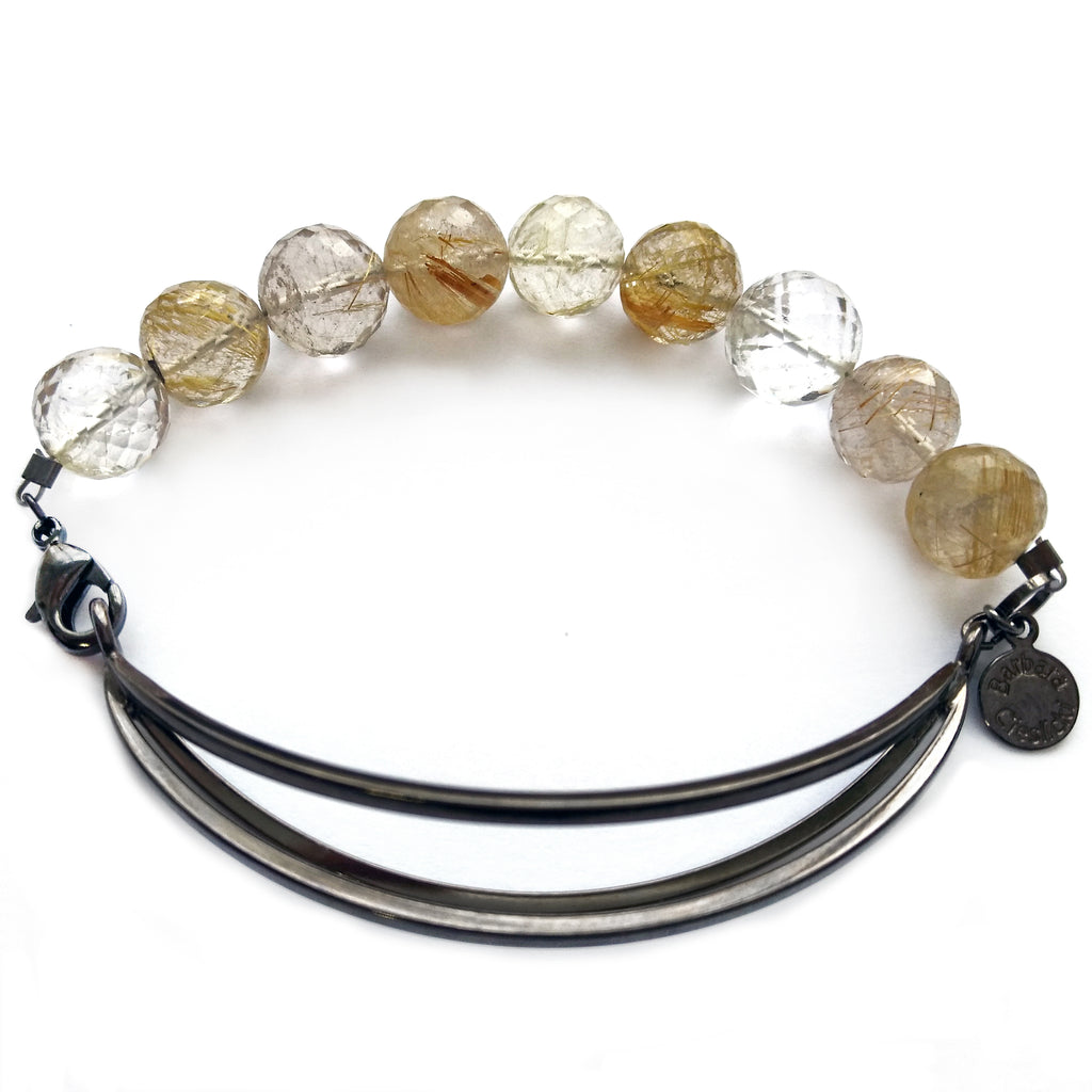 Golden Rutilated Quartz Bracelet by Barbara Cieslicki