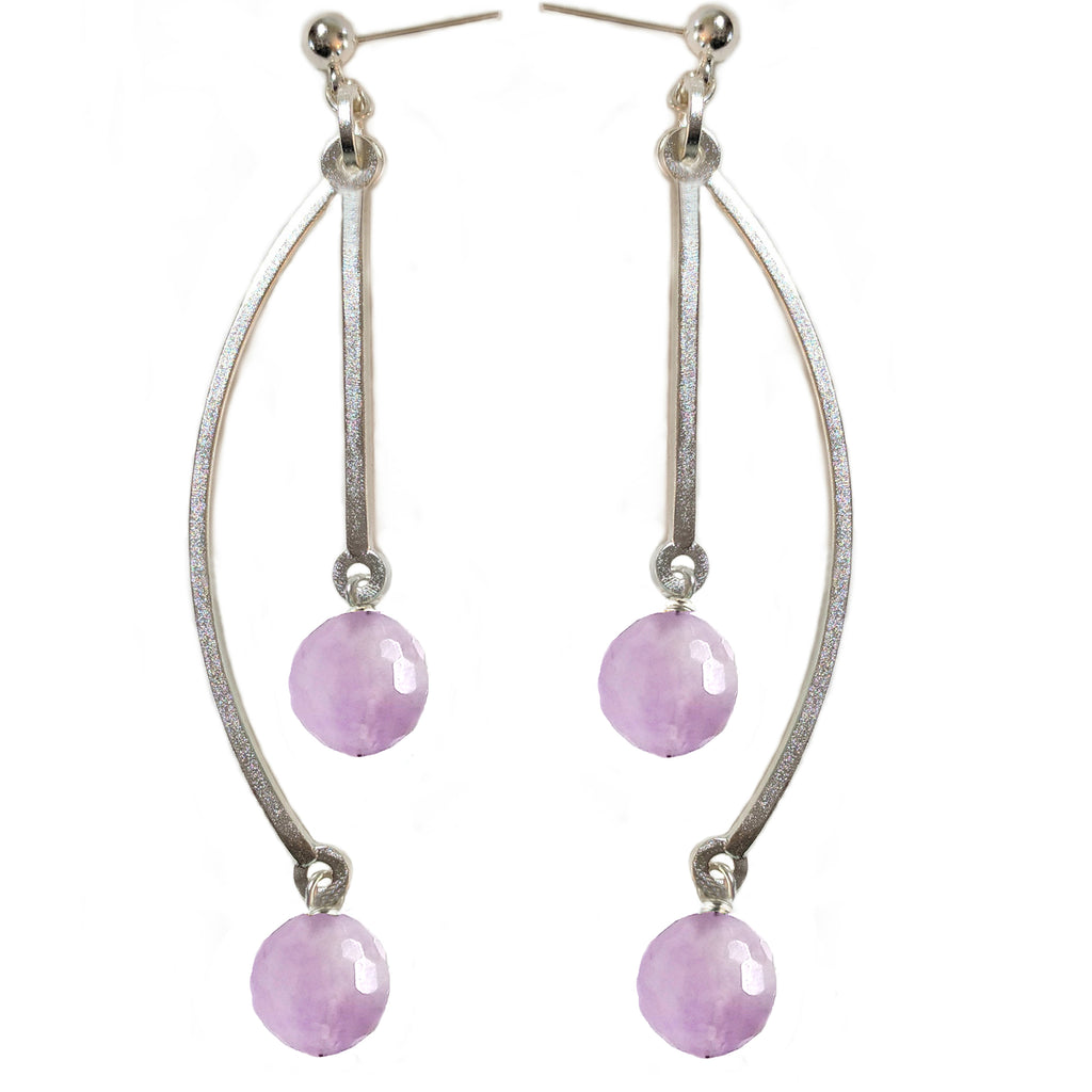 Lavender Amethyst Double Earring by Barbara Cieslicki
