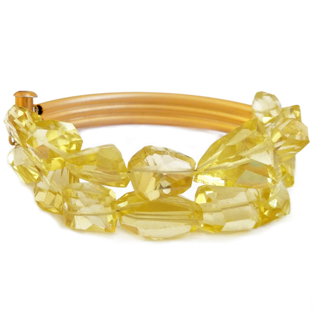 Double Lemon Citrine Bracelet by Barbara Cieslicki