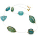 Aqua Lucite Bead Necklace by Barbara Cieslicki