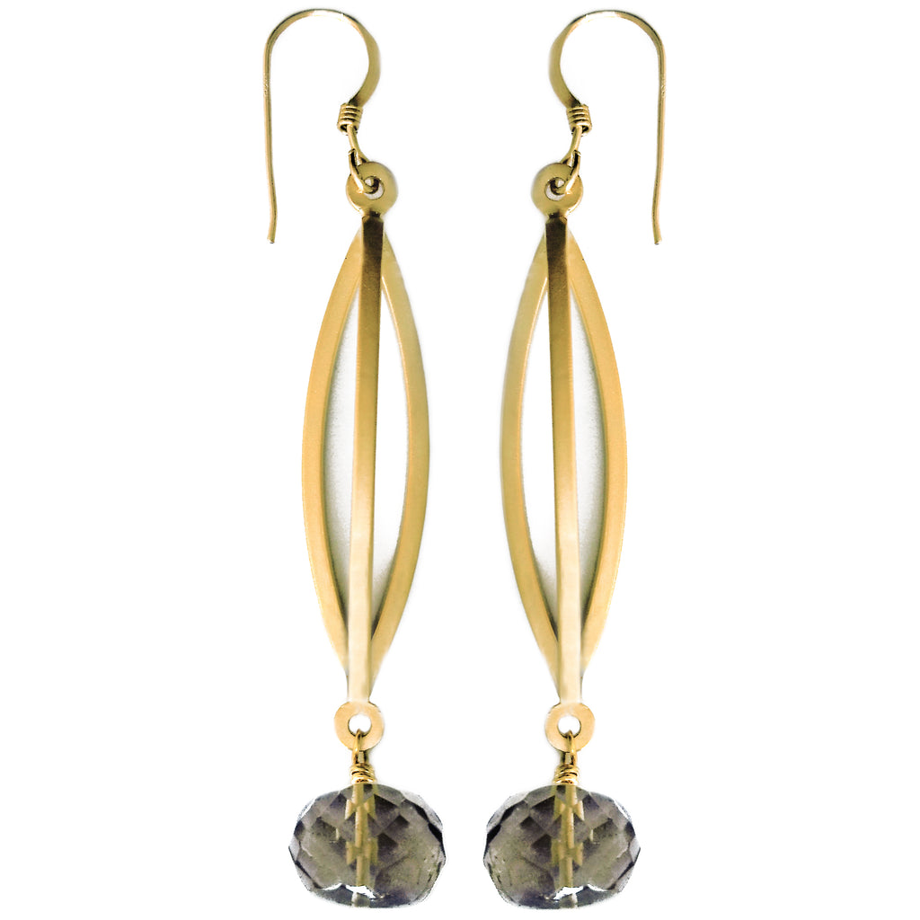 Oro Verde Triple Bar Earring by Barbara Cieslicki